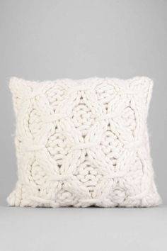 Cable-Knit Pillow I want some pillows like this. Doesn't have to be this exact one, but some cable knit for my room. Creme/off white.