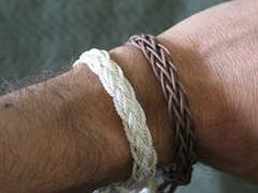 Easy instructions for DIY braided bracelets, made from any type of cord or thick string. Kinda looks more complex than easy, but will give it a try.