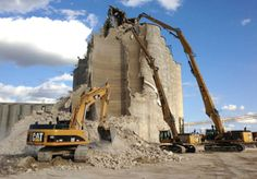 Taking down a grain elevator