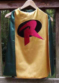 Robin Superhero Cape  Super Hero Cape by littleshepsters on Etsy