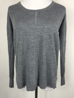 Madewell Grey Rowhouse Merino Wool Dolman Sleeve Sweater Size Small D13 | eBay
