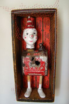 Bless His Sweet Corroded Heart - 2011 mixed media assemblage by Dianne Hoffman