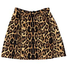 Pre-owned Pink Tartan Leopard Print Skater Skirt (375 RON) ❤ liked on Polyvore featuring skirts, back zipper skirt, leopard print skirt, layered skirt, zip back skirt and leopard skater skirt