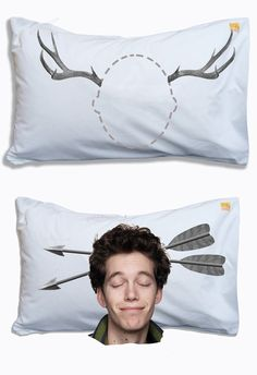 Make pillow cases with cool designs.....lightbulb, sheep counting, etc