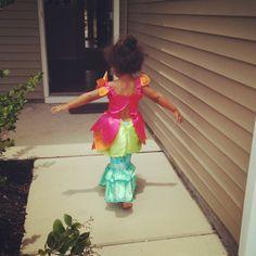 My niece's self styling is half flower / half mermaid