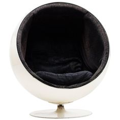 For Sale on - The iconic ball chair, designed in 1963 by Eero Aarnio for Asko. Very first 1963 version made by Asko, marked Asko on the shell. Fabric and foam though Farmhouse Dining Chairs, Leather Dining Room Chairs, Upholstered Swivel Chairs, Chair Upholstery, Chair Cushions, Bubble Chair, Fire Pit Table And Chairs, Wayfair Living Room Chairs, Ball Chair