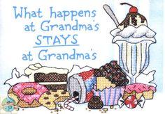 Dimensions Minis - What Happens at Grandmas - Cross Stitch World
