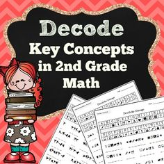 "Important concepts in math are written in code for students to decipher the ""secret message"".  Use as an introduction or exit challenge to your math lesson.  They would also be a great end-of-the-year review.  Students are certain to be engaged and motivated."