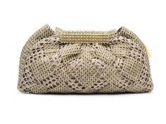 NICOLE - Bolsa em crochet e cristal, com fecho magnético interno. #Bolsa #Clutches