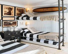 Vichuquen Maria Jose Duch Bunk Beds For Boys Room, Boy Room, Beach House Decor, Home Decor, Home And Living, Living Area, Sweet Home, Interior Design, House Styles