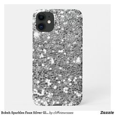 Bokeh Sparkles Faux Silver Glittery iPhone 11 Case Business Supplies, Online Gifts, Diy Face Mask, Dog Design, Bokeh, Silver Glitter, Iphone 11, Sparkles, Kids Shop