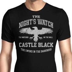 Wear the Night's Watch on your chest with this men's T-Shirt with their sigil and house words from Game of Thrones. $21.99