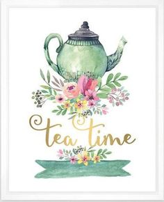 Look at this 'Tea Time' Watercolor Print Tee Kunst, Tea Quotes, Tea Time Quotes, Cup Art, Cuppa Tea, Decoupage Vintage, Decoupage Paper, Illustration, My Cup Of Tea