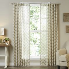 Nakita Single Semi-Sheer Curtain Panel & Reviews | Birch Lane