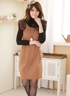 Elegant High Waist Lycra Ladies Dresses Wholesale  Item Code:  LY1449+Khaki   Price:  US$17.23