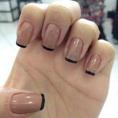 unhas-decoradas-aprenda-a-fazer-desenho-nas-unhas-6 French Nails, Love Nails, My Nails, Nail Pops, Nails Inc, Perfect Nails, Nail Inspo, White Nails, Manicure And Pedicure