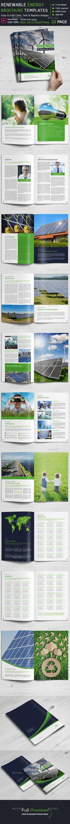 Renewable Energy Brochure Template #design Download: http://graphicriver.net/item/renewable-energy-brochure/12165777?ref=ksioks