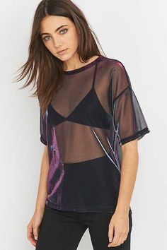 Light Before Dark Liquid T-shirt - Urban Outfitters Urban Outfitters, Amelia Zadro, Bustiers, Facon, Sheer Fabrics, Festival Outfits, Fashion Outfits, Womens Fashion, Mannequin