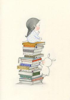 """책 얼마나 많이 읽을 수 있어? How many books can you read? 안녕하세요, 꼬닐리오입니다. 판교 현대백화점, 현대어린이책미술관 (MOKA) 1주년 기념 전시회에 참가하게 되었어요. """"PICTURE + BOOK + ART"""" 전시 컨셉에 걸맞게 다양한 분야에서 왕성하게 활동 중이신 작가분들과 함께 하게 되었답니다. 저는 이번 전시에서 """"어린이와 책""""이라는 소주제를 가지고 여러분에게 추억의 한 장면, 혹은 상상했던 순간들을 선물하고 싶어요. 한 때는 화려한 장난감 없어도 그림책만 가지고도 즐겁게 상상의 나래를 펼치며 지내는 소중한 순간이 있었어요. 책은 인쇄된 종이 이상으로 특별한 설렘과 상상을 불러일으키며 또다른 세계로 안내해주는 비밀의 문과도 같지요. 물론 어른이 된 지금도 언제나 새로운 세상으로 들어가는 마법같은 존재라는 건 변함없지 않을까요? 2016.11.18 - 2017.03.12 판교 현대백화점의 현대어린이책미술관 6층 2층전시실에서 또 만나요."""