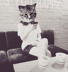 Meow  #me #i #my #mine #kitty #head #coffeetime #deep #pic #photooftheday #blackandwhite #pose #followback by mi._.na97