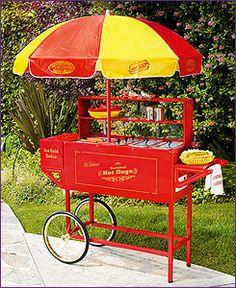 Photo of Nostalgia Electrics HDC-701 Old Fashioned Carnival Hot Dog Cart with Umbrella
