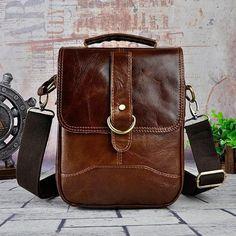 9c776cf64 Overview:Design: Cool Coffee Small Leather Mens Side Bag Messenger Bag  Shoulder Bag for