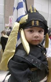Baby boy in a Pontian Greek traditional costume!