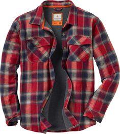 Legendary Whitetails Men's Archer Thermal Lined Flannel Shirt Jacket Best Mens Flannel Shirts, Fleece Lined Flannel Shirt, Hooded Flannel, Flannel Jacket, Camo Shirts, Shirt Jacket, Oversized Flannel, Plaid Shirts, Men Shirts
