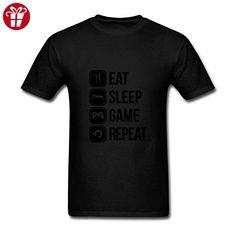Men's Eat Sleep Game Repeat Short Sleeve T-Shirt (*Amazon Partner-Link)