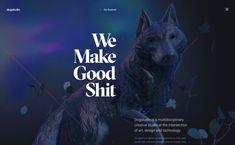 Dogstudio, on siteInspire: a showcase of the best web design inspiration. Creative Studio, Creative Art, Immersive Experience, Best Web Design, Web Design Inspiration, Interactive Design, Cool Things To Make, Design Elements, Cyber