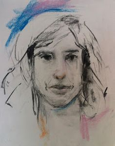 """""""SKETCH OF CECELIA"""" - charcoal + pastel by Susan Roden ©; http://www.susanroden.blogspot.com"""
