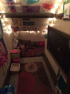 Kids reading nook- closet under stairs Girls Reading Nook, Reading Nook Closet, Closet Nook, Kid Closet, Closet Bedroom, Reading Nooks, Closet Ideas, Playroom Closet, Reading Areas