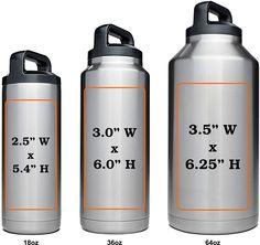 Marking Area On Customized Yeti Rambler Bottle