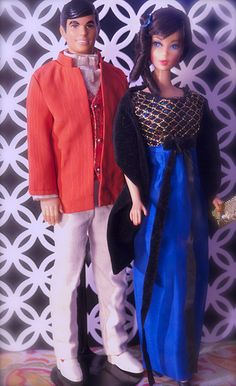 Vintage Ken and Barbie - Mod Era Ken and Hair Fair Barbie