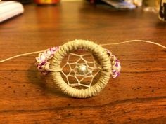 Dream Catcher Bracelet Natural Macrame Cord by KnotTreasures
