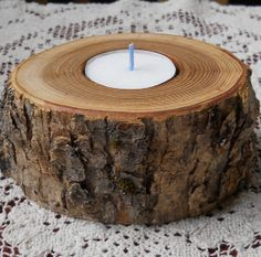 Ash Rustic Tea Light Candle holder by vermontbranchcompany on Etsy, $12.00