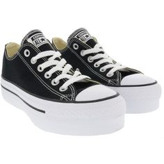 Converse All Star Platform Sneakers (405 RON) ❤ liked on Polyvore featuring shoes, sneakers, black, black sneakers, black platform shoes, converse sneakers, platform sneakers and converse trainers
