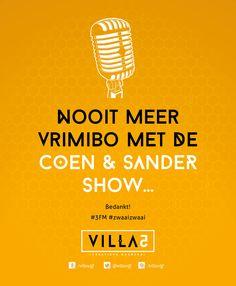 We gaan jullie missen @coenensander, bedankt! #3FM