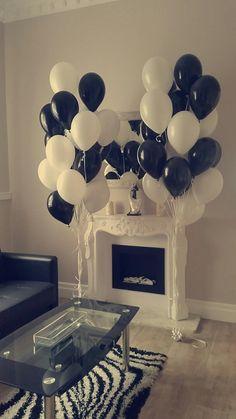 Wedding black&white balloons Balinowe.pl