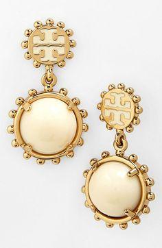 Tory Burch 'Winslow' Logo Drop Earrings   Nordstrom ($88)