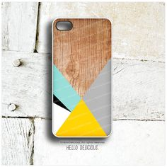 iPhone 5 Case Wood Print, iPhone 5s Case Chevron, iPhone 4 Case, iPhone 4s Case, Geometric iPhone Case, Gray Yellow Chevron iPhone Cover T49...