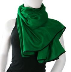 Green clothes shoes accessories - myLusciousLife.com - green scarf.jpg