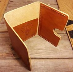 Handmade in London, and stitched completely by hand.  A medium sized wallet. The card holder fits three standard cards with ease, and there's plenty of room for your hard-earned cash too. Made...