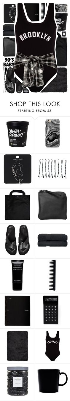 """""""The One-Piece"""" by holunderbluete ❤ liked on Polyvore featuring Samsung, Topshop, BOBBY, Black+Blum, Xenab Lone, Common Projects, Givenchy, GHD, LEXON and Alicia Adams"""