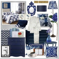 """""""Decorating Ideas: Blue Interior Design Moodboard"""" by elena-starling on Polyvore"""