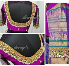 Guttapusalu blouse designs for silk sarees, new maggam work blouse designs, pearl work blouse designs, guttapusalu work blouse, Zardosi Work Blouse, Pattu Saree Blouse Designs, Bridal Blouse Designs, Blouse Neck Designs, Blouse Patterns, Sari Blouse, Latest Maggam Work Blouses, Saree Color Combinations, Stone Work Blouse