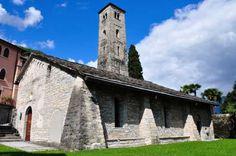 The Romanesque Church of St. Agata in Moltrasio, on Lake Como, Italy