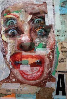 Untitled - Palimpsests - Artist& name: Rael Brian Artwork& name: Medium: Magazine, newspaper, paper Size: Year: - Advanced Higher Art, Art Photography, Identity Art, Art Sketchbook, Painting, Art, Collage Art, Pop Art, Portraiture Art