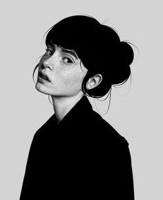Digital drawing by Laura H. Rubin #artwork #art #design #beauty #face Auras, Artworks, Goth, Digital Art, Illustration Art, Photo And Video, Drawings, Face, Artist