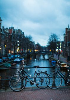 Bike in front of canal - 18 stunningly beautiful pictures of Amsterdam - Netherlands Tourism Places Around The World, Travel Around The World, Around The Worlds, Places To Travel, Places To See, Travel Destinations, Guide Amsterdam, Amsterdam Travel, Places